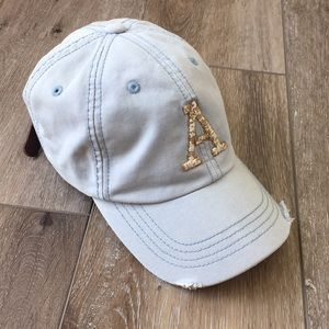 AEO distressed hat ball cap